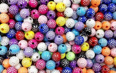 Sada ozdobných korálků - 100 ks (13 barev)