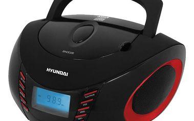 Hyundai radio TRC 182, červená - HYUTRC182ADRU3BR