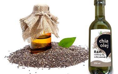 Výživný přírodní chia olej RAW Allnature nejvyšší kvality nejen do kuchyně – 250 ml