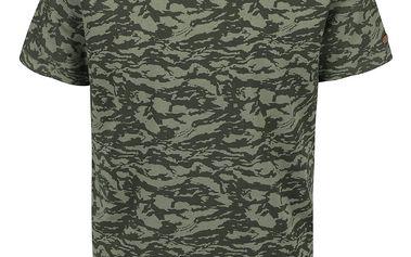 Zelené maskáčové triko s krátkým rukávem Blend