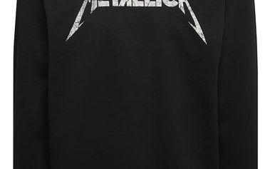 Černá mikina s potiskem ONLY & SONS Metallica