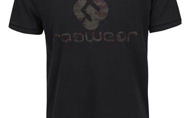 Černé pánské triko s potiskem Ragwear Camou Organic