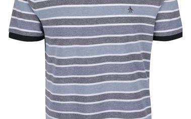 Modré pruhované triko Original Penguin Birdseye