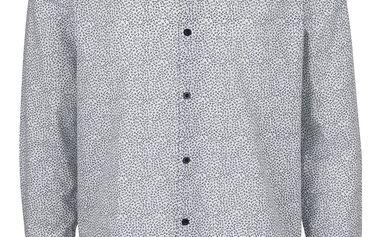 Modro-bílá vzorovaná košile Burton Menswear London