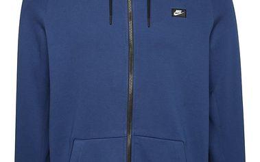 Tmavě modrá pánská mikina s kapucí Nike Modern