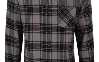 Šedo-černá károvaná flanelová košile Jack & Jones Peter
