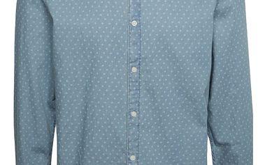 Světle modrá vzorovaná slim fit košile Selected Homme One