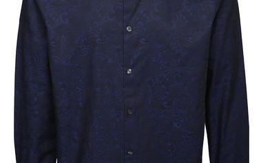 Modrá košile s jemným vzorem Burton Menswear London