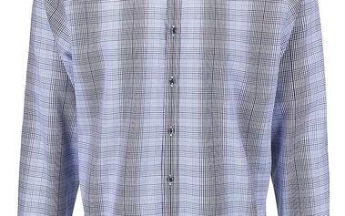 Modrá károvaná košile Seidensticker Modern Kent Tape Slim Fit
