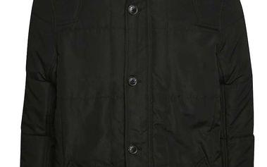 Černá prošívaná bunda s kapucí Blend