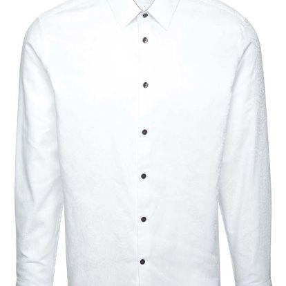 Bílá košile s jemným vzorem Burton Menswear London