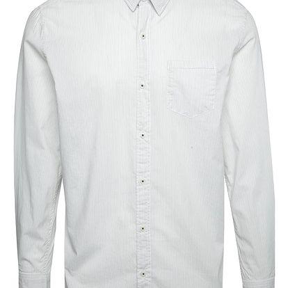 Krémová pánská košile s jemným vzorem s.Oliver