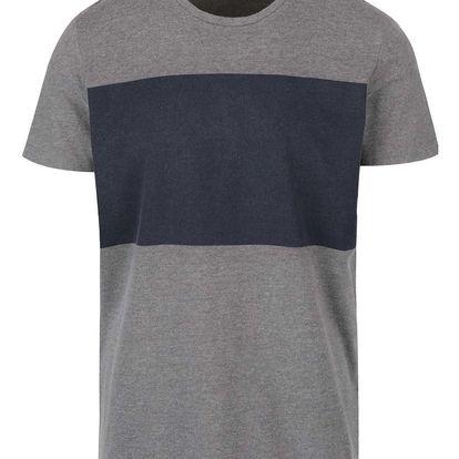 Modro-šedé triko Selected Homme Storm