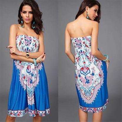 Bohémské letní plážové šaty s pestrými vzory - 16 stylů