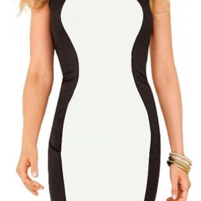 Zeštíhlující černobílé šaty