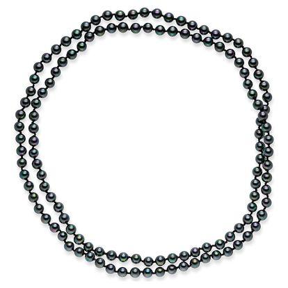 Černý perlový náhrdelník Pearls Of London Mystic, délka 120cm