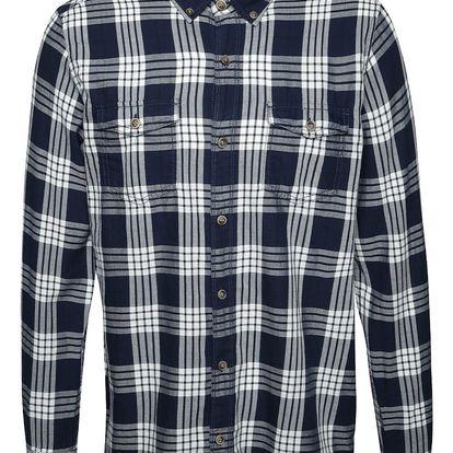 Modrá pánská károvaná košile s.Oliver