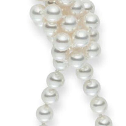Bílý perlový náhrdelník Pearls Of London, délka 90cm