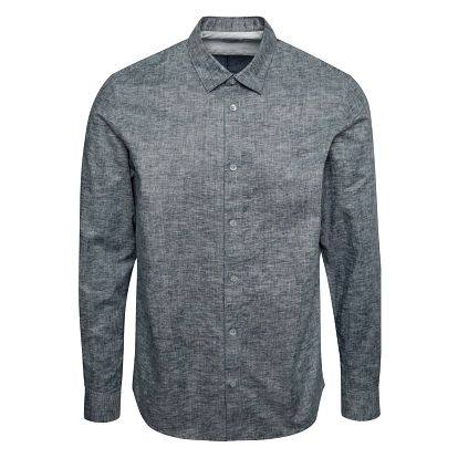Modro-šedá žíhaná slim fit košile Selected Homme Doneoscar