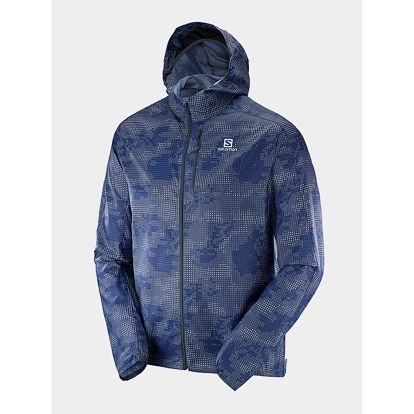 Bunda Salomon FAST WING GRAPHIC HOODIE S Barevná
