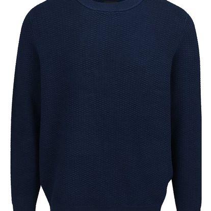 Tmavě modrý strukturovaný svetr Burton Menswear London