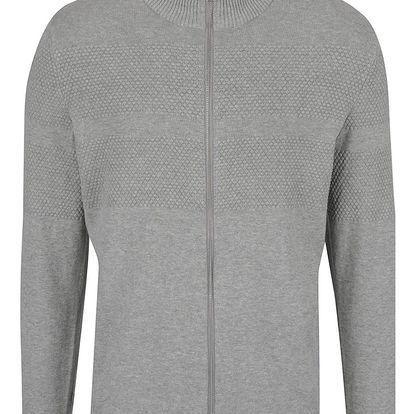 Světle šedý svetr na zip Selected Homme John