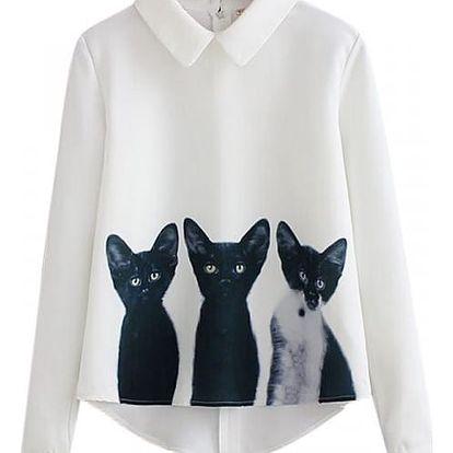 Dámská halenka se třemi koťátky