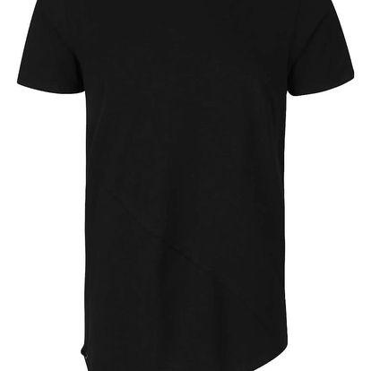 Černé asymetrické triko Jack & Jones Try