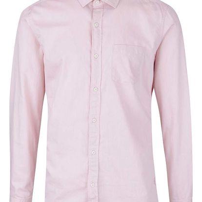 Růžová pánská slim fit košile s.Oliver