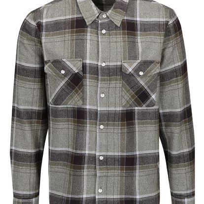 Černo-zelená flanelová károvaná košile Burton Menswear London