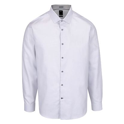 Světle šedá formální košile Burton Menswear London