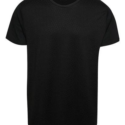 Černé triko s geometrickým vzorem Burton Menswear London