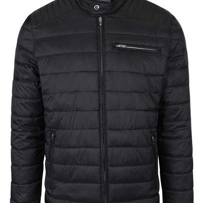 Černá prošívaná bunda Selected Homme Street