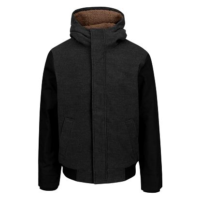 Černo-šedá pánská bunda s kapucí Ragwear Eagle