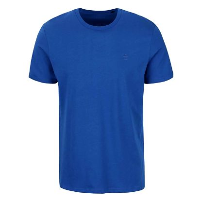 Modré pánské triko s potiskem Perry Ellis Tour