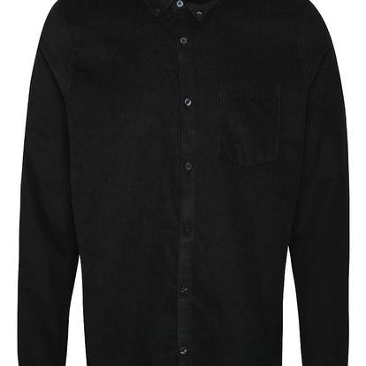 Černá manšestrová košile Burton Menswear London