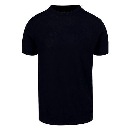 Tmavě modré pletené triko Burton Menswear London