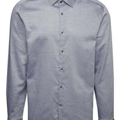 Šedá neformální košile s jemným vzorem Burton Menswear London