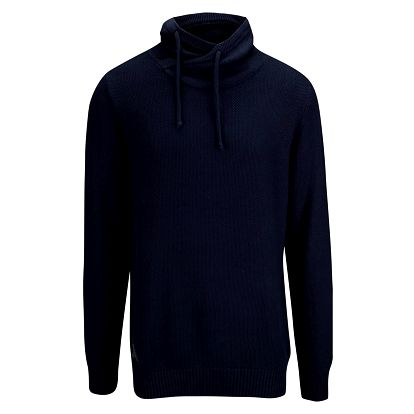 Tmavě modrý pánský svetr s vysokým límcem Ragwear Moose Organic