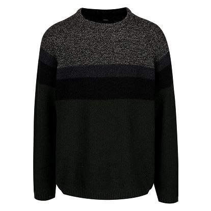 Šedo-zelený svetr Burton Menswear London