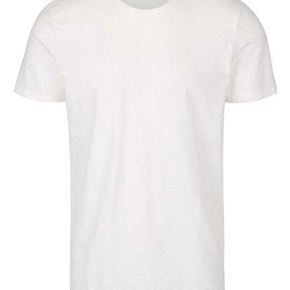 Krémové basic triko Selected Homme Raw