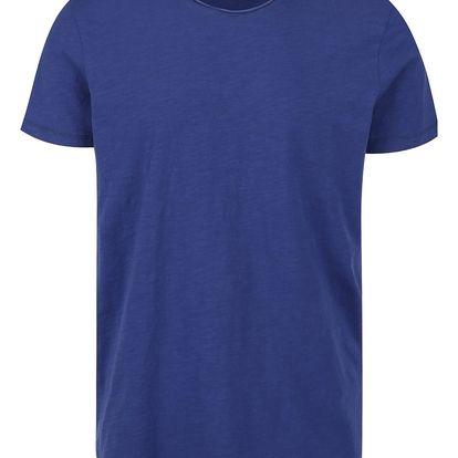 Tmavě modré basic triko Selected Homme Raw