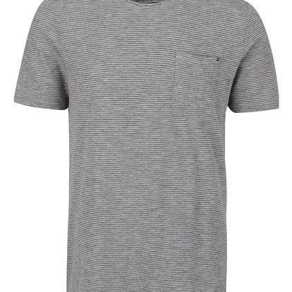 Šedé pruhované triko s kapsou Jack & Jones Orson