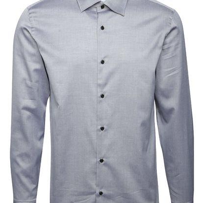 Světle šedá formální košile s jemným vzorem Selected Homme Two Penkingston