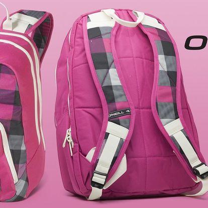 Dámský růžový batoh O'Neill s kapsou na notebook