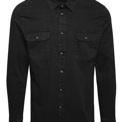 Černá denimová košile Burton Menswear London