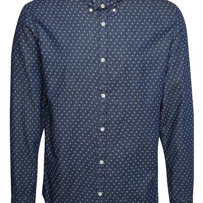 Tmavě modrá vzorovaná slim fit košile Selected Homme One