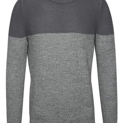 Šedý pánský svetr s kulatým výstřihem s.Oliver