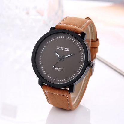 Pánské hodinky s velkým ciferníkem ve čtyřech barvách