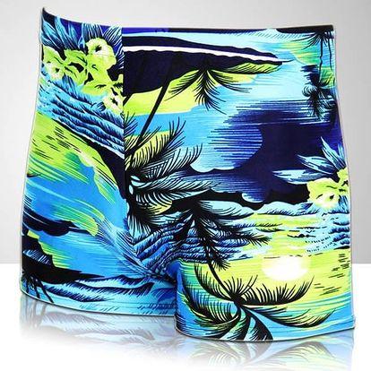 Pánské plavky s potiskem kokosových palem